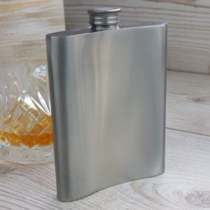 Personalised Bon Voyage Distressed Kidney Hip Flask