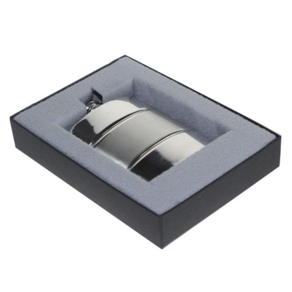 Personalised Satin Stripe Hip Flask
