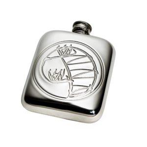 Personalised Knox 4 oz Pewter Pocket Hip Flask