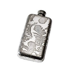 Personalised 3 oz Peacock Pewter Pocket Hip Flask