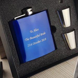 Something Borrowed, Something Blue Wedding Hip Flask