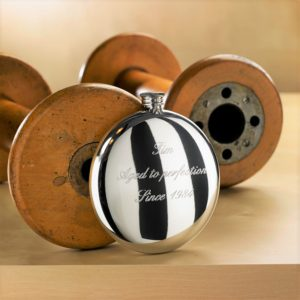 Personalised Engraved Round Hip Flask